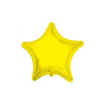 Folie ballong stjärnor fast Metallic gul