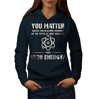 Fysiikka Tiede Funy Naiset NavyHoodie | Wellcoda, mitä sinä olet?