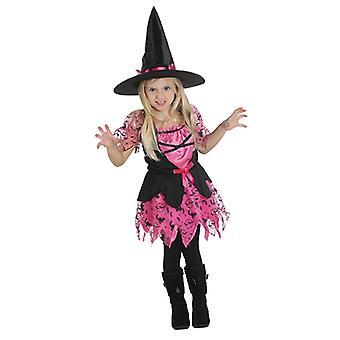 Strega rosa strega vestito costume da strega per bambini