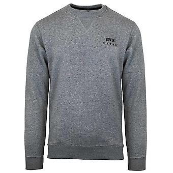 Edwin gråmelerad Base Crew Sweatshirt