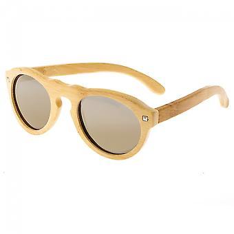 Earth Wood Sunset Polarized Sunglasses - Khaki/Gold