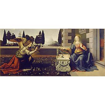 Annunciation, LEONARDO da Vinci, 80x36cm