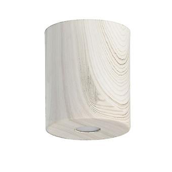 Glasberg - LED Semi-Flush Ceiling Light 12cm White Wood 712010801