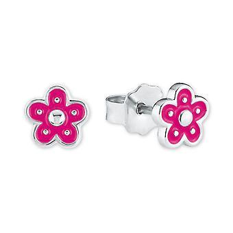 Prinzessin Lillifee Kinder Ohrringe Silber Blumen pink 2021004