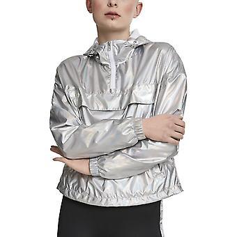 Urban Classics doamnelor-trage peste sacou holografic argint