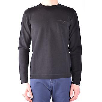 Paolo Pecora Ezbc059019 Men's Black Wool Sweater