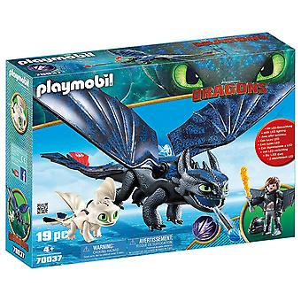 Playmobil 70037 Hiccup and Toothless with Baby Dragon