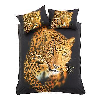 3D Leopard dierlijke Dekbedovertrek Quilt Cover katoen Rich Set beddengoed kussen geval