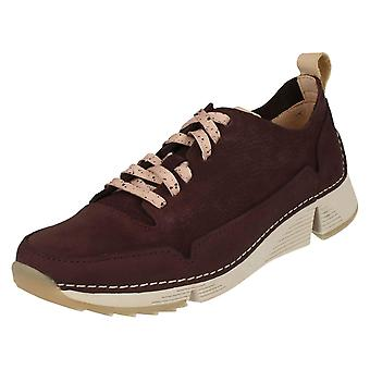 Dames Clarks Casual Trainers Tri vonk