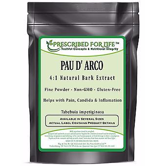 Pau D ' Arco-4:1 luonnollinen kuori uute jauhe (Tabebuia märkä tiginosa)