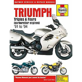 Triumph Triples & Fours Motorcycle Repair Manual by Editors of Haynes