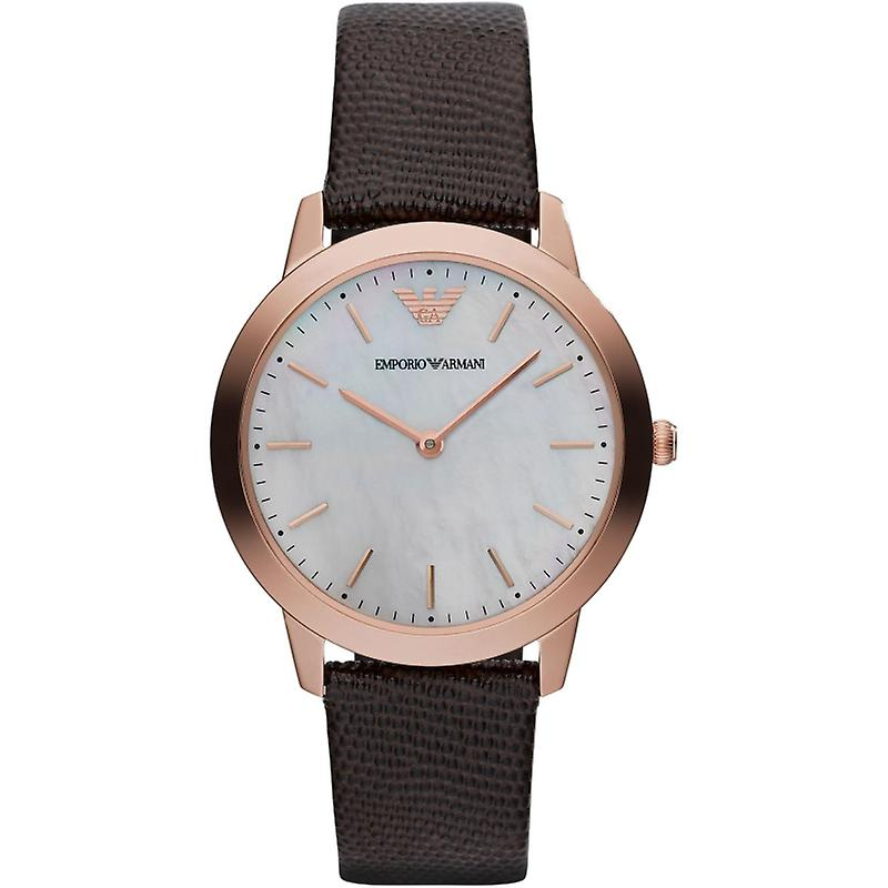 Emporio Armani Ar1748 Ladies Brown Leather Watch