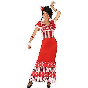 Vrouwen kostuums Spaanse jurk flamenco