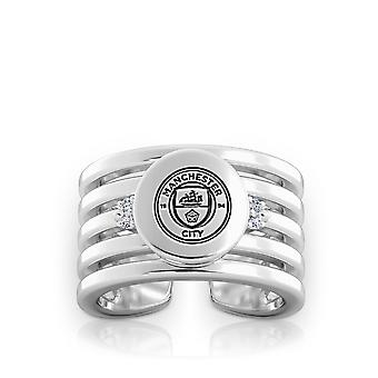 Manchester City FC Diamond Ring In Sterling Silver Design by BIXLER