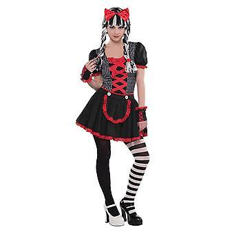 Meisjes Goth pop Halloween fancy dress kostuum