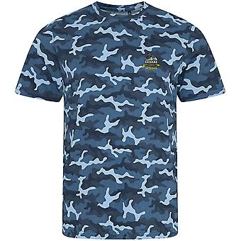 Royal Lincolnshire Regiment Veteran - lizenzierte britische Armee bestickt Camouflage Print T-Shirt