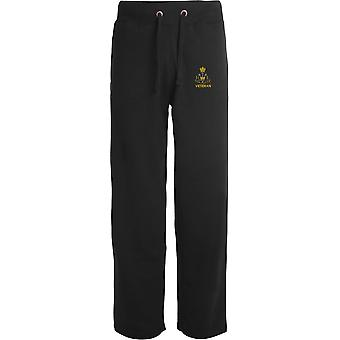 Royal Monmouthshire Royal Engineer Veteran - Licensed British Army Embroidered Open Hem Sweatpants / Jogging Bottoms