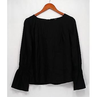 G.I.L.I. lo tiene me encanta Top manga larga tejida camiseta negra A292992