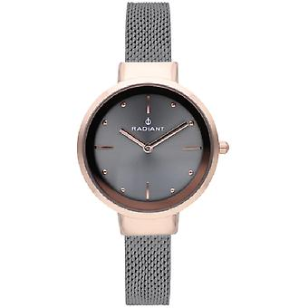 Radiant iris Quartz Analog Woman Watch with RA510604 Silicone Bracelet
