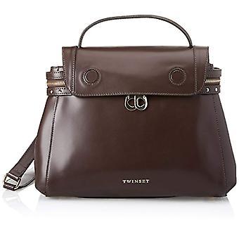 Twin Set Aa7pgn Brown Women's Shoulder Bag (Dark Brown) 14x24x32cm (W x H x L)