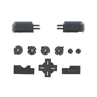 Button set for nintendo ds lite inc d-pad, a b x y, l r triggers, volume and power slider - black