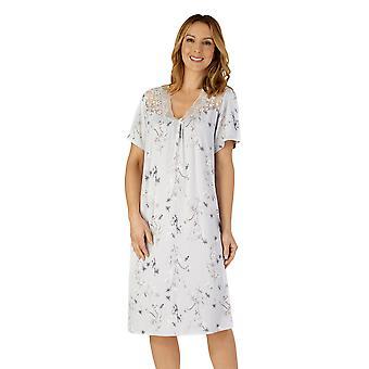 Slenderella GL4712 Women's Gaspe Floral Lace Nightdress