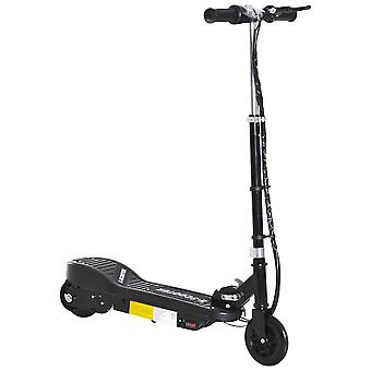 HOMCOM Kids Folding Electric Bike Children E Scooter  Ride on Toy 2 x 12V Recharge Battery 120W Adjustable Height PU Wheels Suitable for 7 to 14 yrs - Black