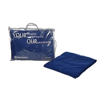 BRESSER Y-9 Sfondo Tessuto 3x4m Chromakey Blu
