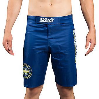 Scramble Roundel MMA Shorts - Blau