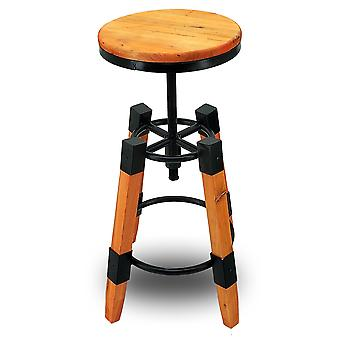 Wyland Rustic Contemporary Wood/Steel Barstool