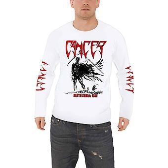 Cancer T Shirt Death Shall Rise Band Logo new Official Mens White Long Sleeve