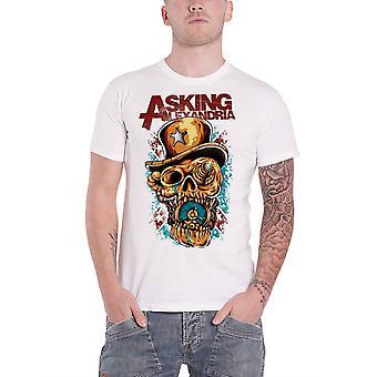 Pytając Alexandria T Shirt Stop The Time Band Logo nowe Oficjalne Mens White