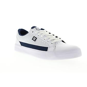 DC Lynnfield Mens vit läder Athletic skate skor