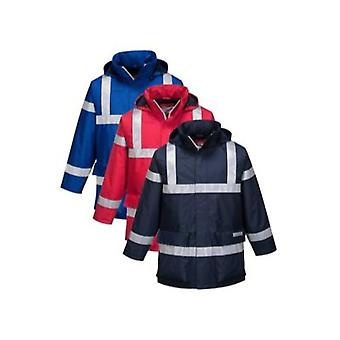 Portwest bizflame rain anti-static flame retardant jacket s785