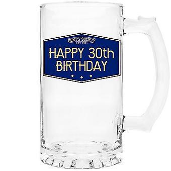 Lesser & Pavey Gents Society Happy 30th Tankard