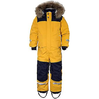 Didriksons Polarbjornen Kids Snowsuit | Oat Yellow