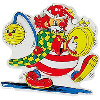 Clown Lampion 55 x 60 cm diep afbeelding carnaval circus versieren