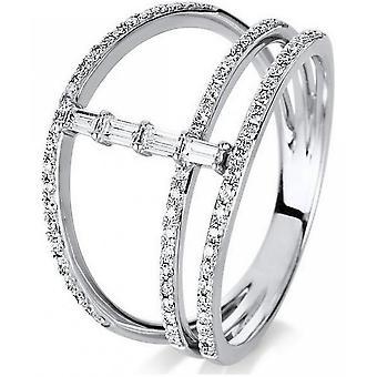 Diamond Ring Ring - 14K 585 White Gold - 0.37 ct.