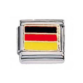 ZOPPINI S.Steel Flag-Germany Charm