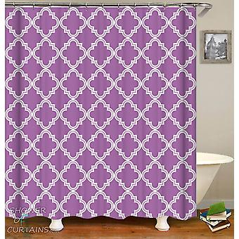 Purple Moroccan Shower Curtain