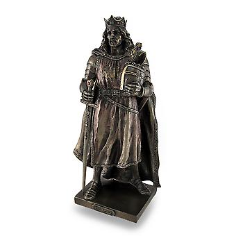 Legendarische koning Arthur gebronsd gebeeldhouwde standbeeld
