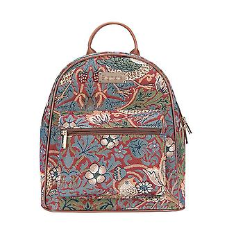William morris - strawberry thief red daypack by signare tapestry / dapk-strd