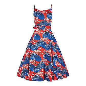 Collectif Vintage Women's Lilly Paper Parasol Swing Doll Dress