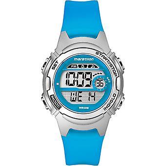 Timex Quarzuhr mit digitaler Anzeige LCD-Zifferblatt und Harz Strap blau TW5K96900