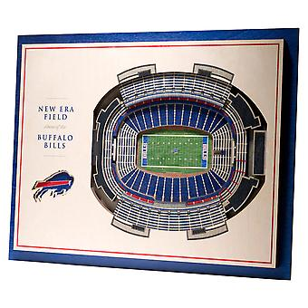 YouTheFan Wood Wall Decoration Stadium Buffalo Bills 43x33cm