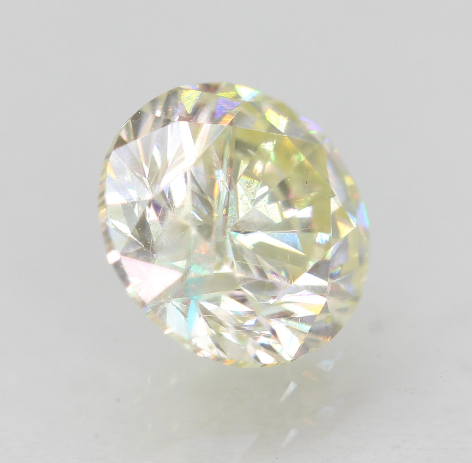 Certified 1.08 Carat J VS1 Round Brilliant Enhanced Natural Diamond 6.41m EX CUT