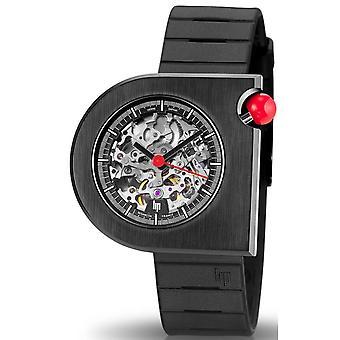 Watch LIP Watches 671081 - MACH 2000 SKELETON Silicone Black Men