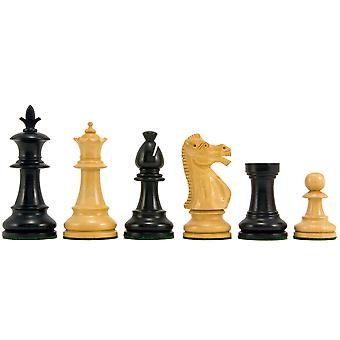 Flower Series Ebonised Staunton Chess Pieces 3.25 Inches
