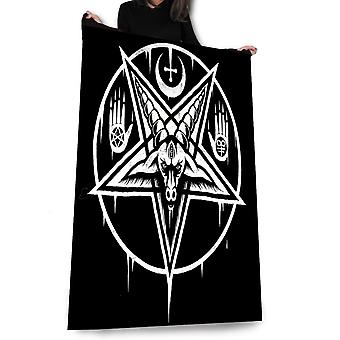 Wild star hearts - pentagram baphomet - fleece, throw