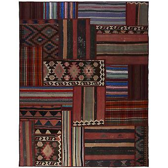 Hand-knotted Persian Patchwork mat Multicolored 158x205cm